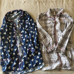 Bundle of two GAP flannel nightgowns